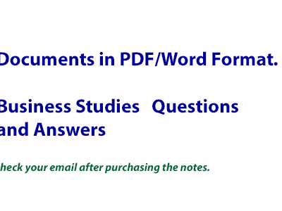 KCSE Business Studies Questions & Answers | Enhanced